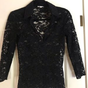 Lace Blouse-3/4 sleeve